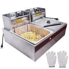 TheLAShop Deep Fryer <b>Commercial</b> Dual Basket <b>12L</b>/3.2Gal Oil ...