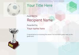 soccer awards templates free soccer certificate templates add printable badges medals