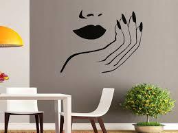 salon stickers belle wall ideas art beauty