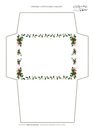 Free Printable Christmas Envelope Stationery Border Template 5
