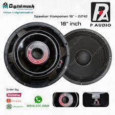 Speaker Component P Audio 18 Inch.
