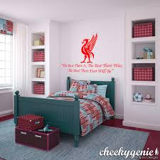 Liverpool Fc Bedroom Accessories Liverpool Fc Football Vinyl Wall Art Steven Gerrard Quote The