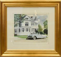 """Sold Price: Eberts, Ken (American, b 1943), watercolor """"BelAir"""" 13"""" x 15""""  sight, framed 25.75"""" x 27.75"""" W507 - May 2, 0119 10:00 AM EDT"""