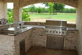 Lovely Outdoor Kitchens Pictures Afrozepcom - Outdoor kitchen countertop ideas