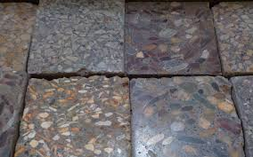 dark polished concrete floor.  Concrete Polished Concrete Samples With Various Aggregates Added To Dark Concrete Floor