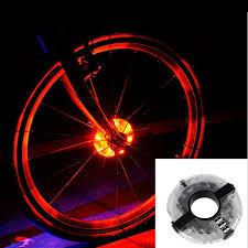 Orange Wheel Lights Hot Item Bike Cycling Hubs Lights Front Rear Bicycle Light Spoke Decoration Warning Led Wheel Lamp Waterproof Bike Accessories