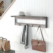 Diy Wall Mounted Coat Rack With Shelf Cool Shelf Coat Rack 32 Shelf 32 Hook Entryway Wall Mounted Coat Rack Shelf