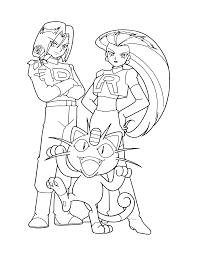 Jessie Team Rocket Pokemon Coloring Pages Ash Ketchum Beat Team