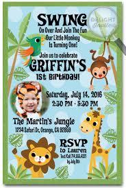 Safari Party Invitations Jungle Safari Party Birthday Invitation Jungle Themed Birthday