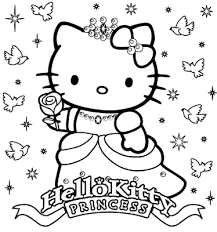 Hello kitty coloring pages are images of the fictional hero who is thought up by the japanese designer yuko shimizu. Princess Coloring Pages Hello Kitty Colouring Pages Kitty Coloring Hello Kitty Coloring