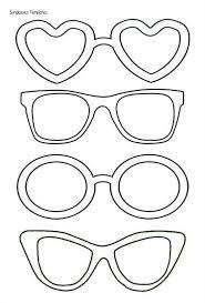 Sun Template Printable Happy Glasses Sun Star Coloring Page Printable Template
