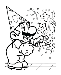 Free Mario Coloring Pages Bros Printable Coloring Pages F Super Free