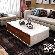 high gloss coffee table coffee table drawers super saving space living room modern white coffee table