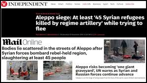 Afbeeldingsresultaat voor aleppo hospitals all fake news from al-qaeda