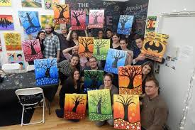 byob painting chicago ob painting class wet paint chicago groupon image