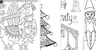 Hand drawing coloring book for children and adults. Tons Of Free Printable Christmas Coloring Pages For Kids And Adults Press Print Party