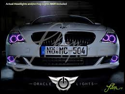 oracle 08 10 bmw 6 series led colorshift halo rings headlights bulbs