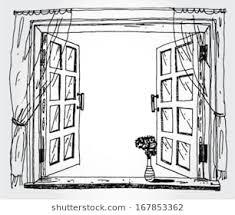 window drawing.  Window Illustration Of Opened Window To Window Drawing Shutterstock