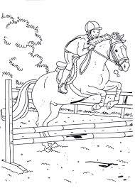Corsa Ad Ostacoli Con Il Cavallo Disegno Per Bambini Disegni Da