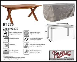 raffles covers rectangular garden table cover 220 x 100 h 75 cm