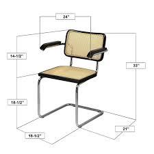 com marcel breuer cesca cane chrome arm chair in honey oak chairs