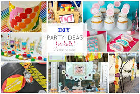 a roundup of some adorable and creative ideas for kids birthday parties via view from