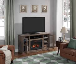 chimneyfree media electric fireplace for tvs up to 65 brown espresso com