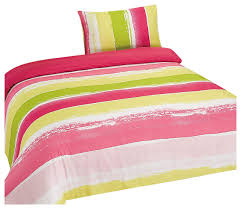 portobello bedding set duvet cover with pillowcase pink and green eclectic duvet covers sets by home