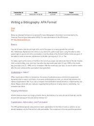 Bibliography Citation Apa Style