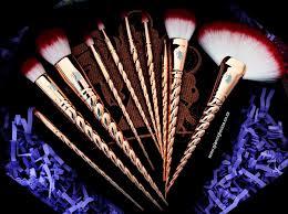 rose gold unicorn makeup brushes. original royale unicorn brush set \u2013 rose gold rose gold unicorn makeup brushes