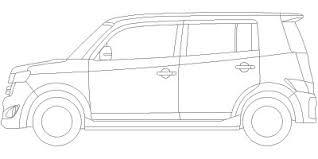 車の塗り絵cadデータ トヨタ