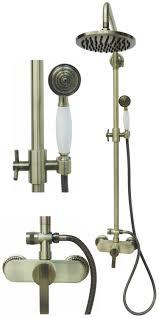 Retro Duschset Duschsystem Brauseset Dusche Regendusche Bronze 1400246