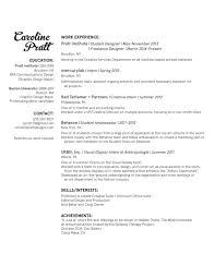 Resume Caroline Pratt Designs