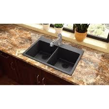 Elkay Elg3322 Quartz Classic Double Basin Top Mount Kitchen Sink