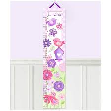 Toad And Lily Growth Chart Once Upon A Garden Personalized Growth Chart