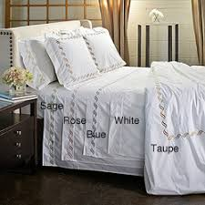 Scroll Embroidery 300 Thread Count Cotton 3-piece Duvet Cover Set ... & Scroll Embroidery 300 Thread Count Cotton 3-piece Duvet Cover Set Adamdwight.com
