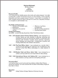 Cvs Resume Example 89 Images 16 Cv For Teaching Job Application