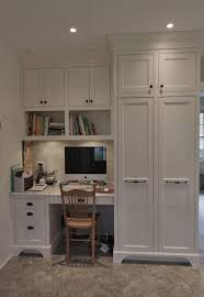 White Built In For Office  Builtin The Kitchen