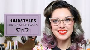 Growing Out Hair Style 3 easy hairstyles for growing out bangs youtube 5953 by stevesalt.us