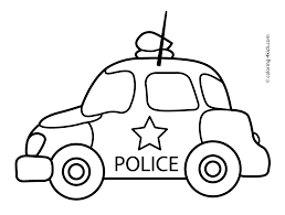Small Picture Police car transportation coloring pages for kids printable free