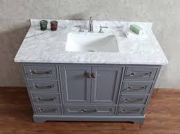 stufurhome newport grey  inch single sink bathroom vanity with