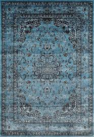 distressed blue oriental traditional area rugs persian rug uk