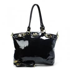 Coach Madison Kelsey Smooth Medium Black Satchels ABU