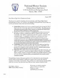 Letter Of Recommendation Fresh National Honor Society Letter Of