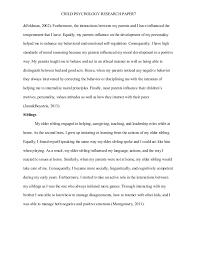 child psychology research paper child psychology