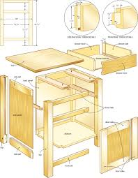Plans For Bedroom Furniture Classic Night Stand Woodworking Plans 4 Pinteres
