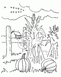 Small Picture Farm and Autumn coloring pages for kids seasons printables free