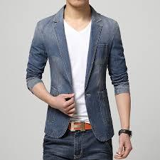 Basket Blazer Design New Fashion Style Men Blazer Jeans Coat Special Design Slim