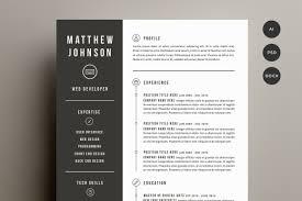 Groovy Modern Resume Template Free Download Prepasaintdenis Com