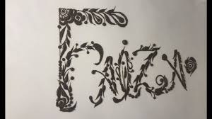Picture of public figure faiza khan taken on 5th april 2011 on the exhibition curated by her at national art gallery of pakistan. Faiza Name Writing With Henna Youtube